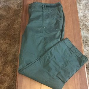Maurice's Olive Green Plus Size Pants Size 24